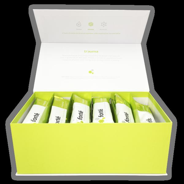 forte trauma supplement green open box