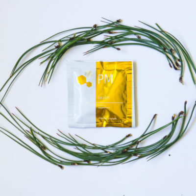 Brain and Amino Acid Bundle with Pine Needle Wreath