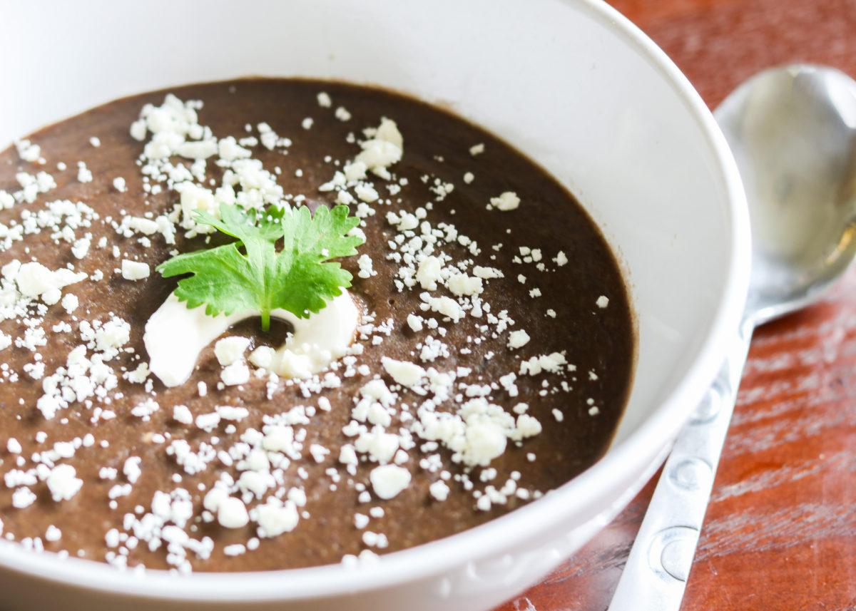 Forté Recipes: Black Bean Soup close up